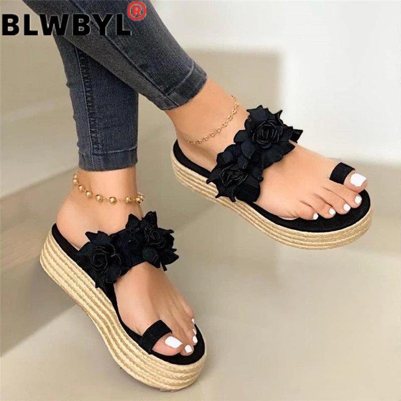 Women Sandals  Wedges Shoes For Women High Heels Sandals Summer Shoes 2020 Flip Flop Chaussures Femme Platform Sandalias Mujer