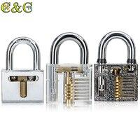 3 in 1 Cutaway Inside View Of professional Practice Padlocks Lock Pick Tools Locksmith Training Skill Tools Set
