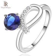 Bague Ringen nuevo anillo de diseño 925 joyería para mujeres geometría moda creada zafiro piedra arco aniversario regalo fiesta bodas