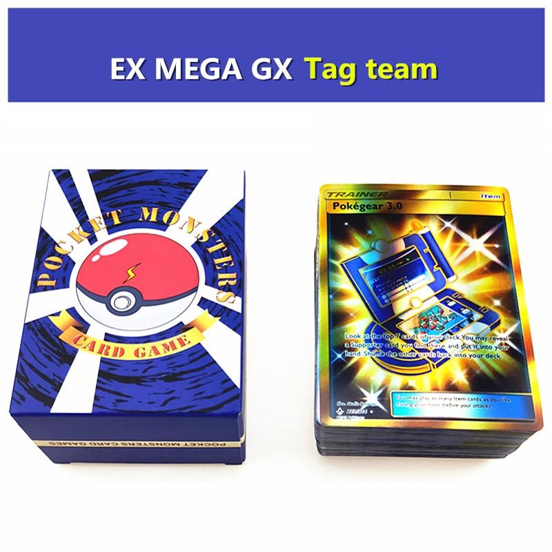 120pcs Takara Tomy All Kinds GX MEGA EX Giant Shiny Pokemon Card Game Battle Trade Cards Children Pokemon Toys