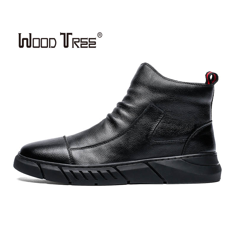 WOOTREE 2019 Spring And Autumn Hot Sale High-top  Men's Shoes Fashion Trend Martin Boots