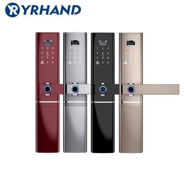 指紋ドアロック、防水電子ドアロックインテリジェント生体認証ドアロックスマート指紋ロック
