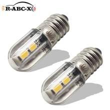 RUIANDSION – ampoule Led de remplacement, 2 pièces, E10 3030SMD AC 220V 230V, blanc chaud 3000K jaune, pour décoration d'intérieur, lustre, lampe en cristal