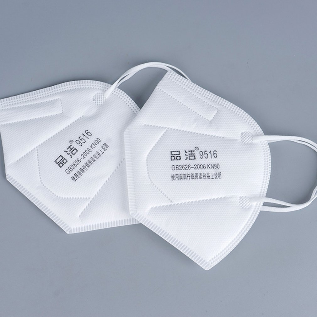 Kn90 Masks Disposable Non-Woven Masks Anti-Haze 5-Layer Filter Mask Labor Insurance Folding Industrial Dust Mask 10/20Pcs