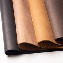 Натуральная кожа crazy horse, коричневая дубленая воловья кожа, желто-коричневая натуральная кожа, толстая коровья кожа, первый слой от 1,8 до 2 мм