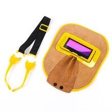 Сварочная маска с автоматическим затемнением шлем из воловьей