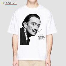 Newest t shirt Men Summer Fashion t-shirt Salvador Dali Casual White Print O-Neck Male Top Tees Hipster tshirt
