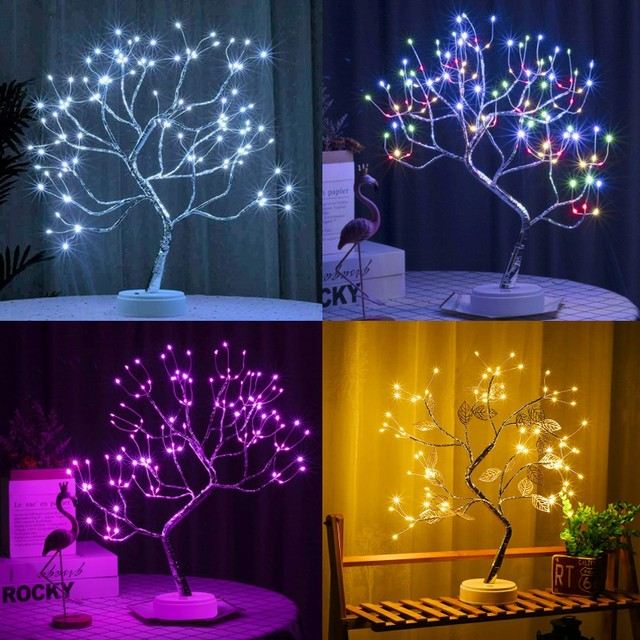 Lampe fil de cuivre en forme d'arbre Lampes Cocooning.net
