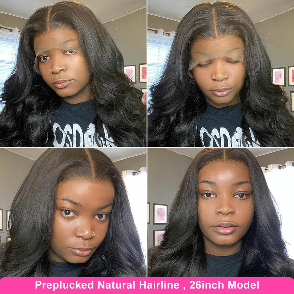 YYONG 30 32inch 13x4 Lace Front  Wigs    Body Wave 4x4 Lace Closure Wig Pre Plucked 130% 3