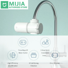 Xiaomi Mijia Faucet Water Purifier Stainless Steel Non-Woven Activated Carbon Filter xiaomi mijia faucet water purifier filter kitchen tap filter water purifier with 4pcs free activated carbon