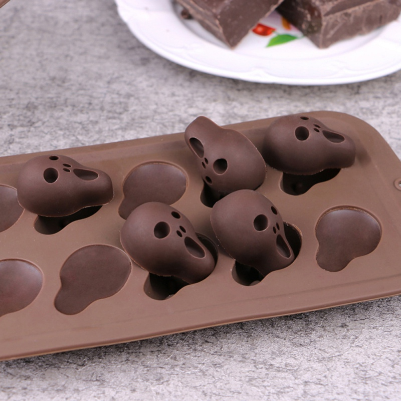Halloween Silicone Baking Molds Nonstick Cake Pan with Pumpkin Chocolate Cupcakes Bat Skull Ghost Shape for Kitchen DIY Baking Tools