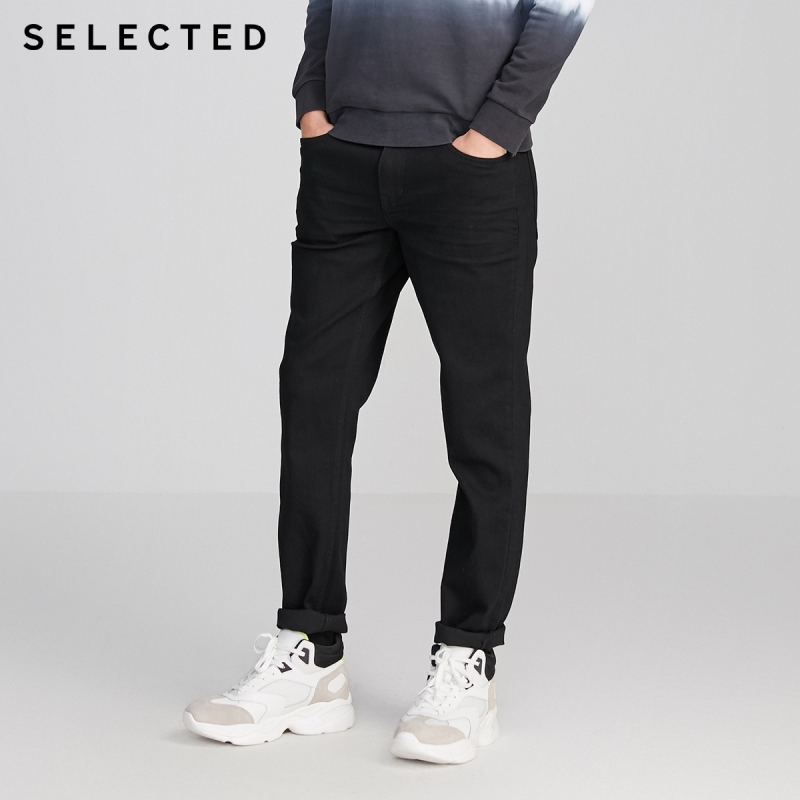 SELECTED Men Slim Fit Stretch Casual Denim Pants Cotton Three-color Jeans R|420132509