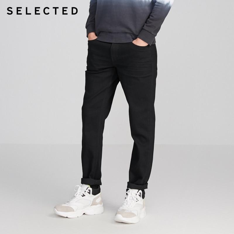 SELECTED Men Slim Fit Stretch Casual Denim Pants Cotton Three-color Jeans R|420132509