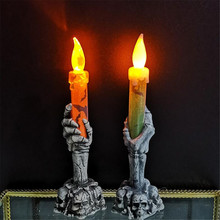Halloween Ghost Hand Night Light of Festival Atmosphere Props Plastic Party  Decoration LED Candle