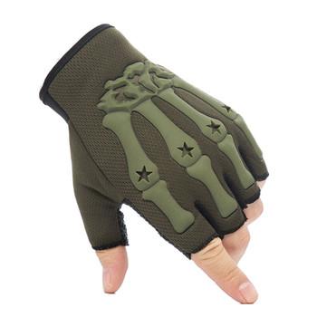 Wojskowe rękawice taktyczne pół palca rękawice SWAT siłownia strzelanie Paintbal Combat Outdoor Sport jazda rowerowa Rekawiczki tanie i dobre opinie ZAIQING NYLON Mikrofibra Wiskoza Dla dorosłych Rękawiczki GEOMETRIC Nadgarstek Moda ST866 fingerless gloves winter gloves