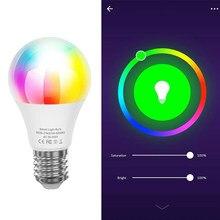 Wifi inteligente lâmpada b22 e27 e14 led rgb trabalho com alexa/google casa AC85-265V rgb + c + w função temporizador regulável lâmpadas mágicas