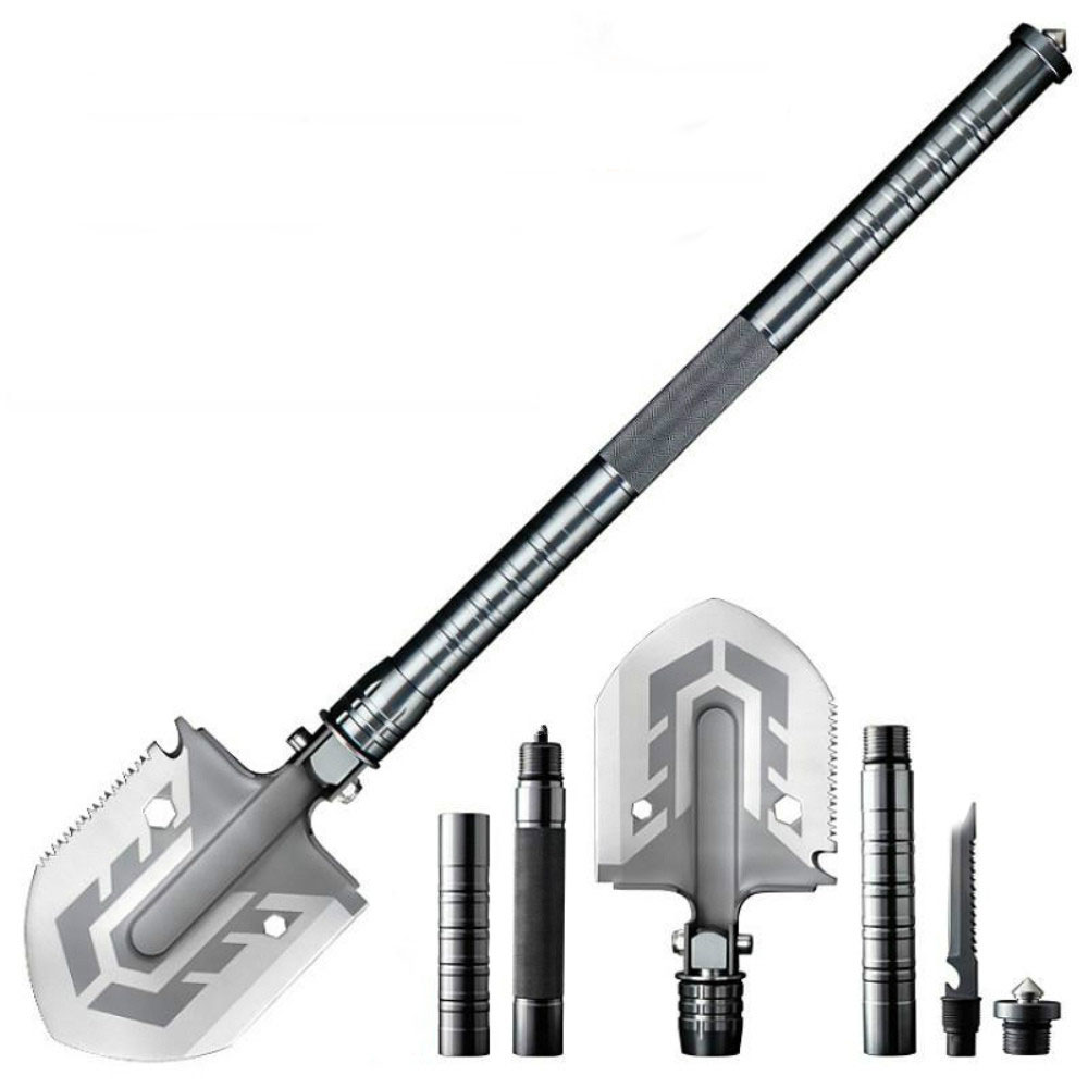 Outdoor Equipment Multi-purpose Shovel Garden Tools Folding Military Shovel Camping Defense Security Tools 67cm