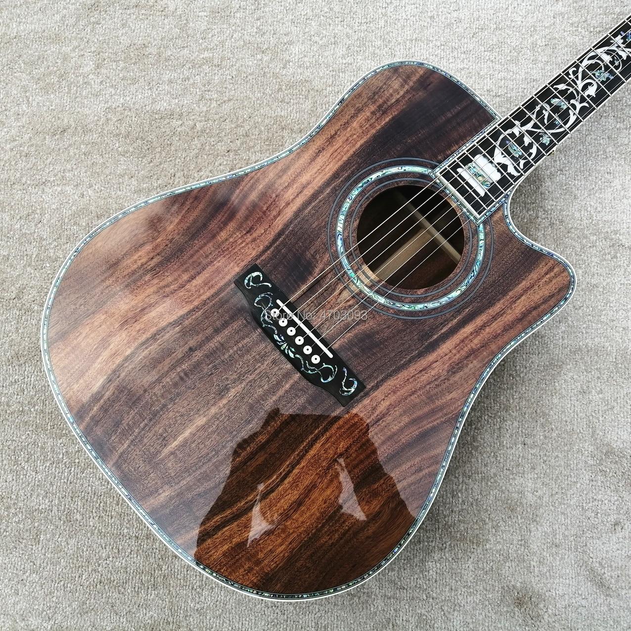 Vraies Photos, personnalisé en usine, guitare acoustique KOA wood, guitare électrique 41