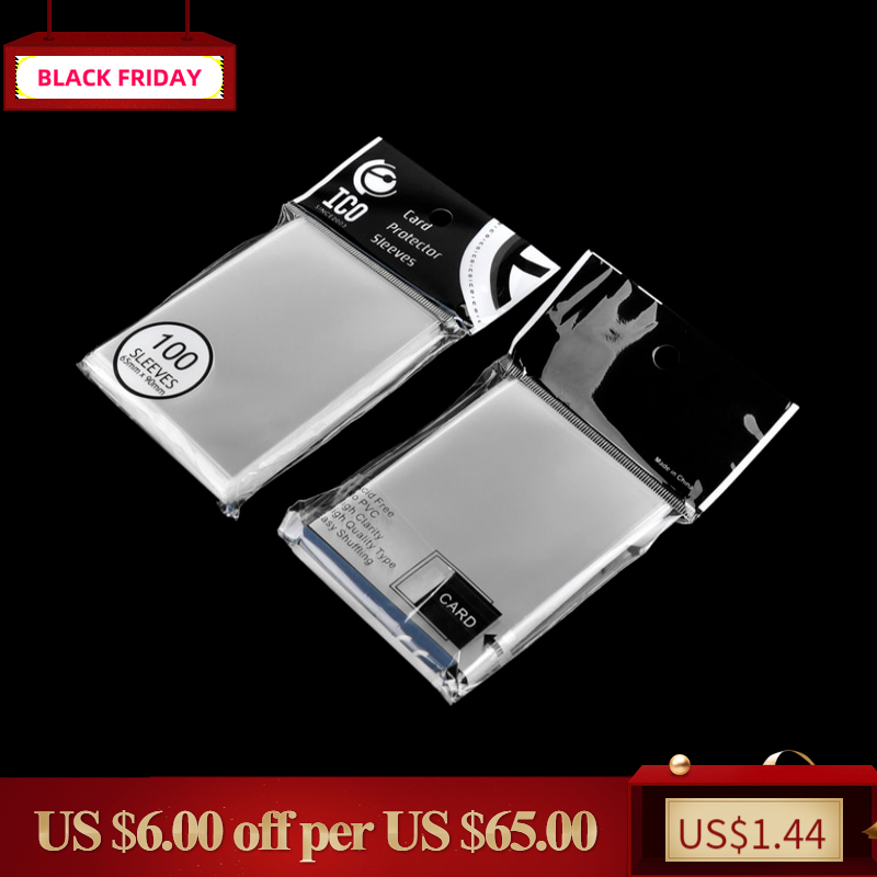 65*90mm Rfid ID Card Protector Sleeves Dustproof Clear Credit CPP Transparent Unsealed Board Game Holder Sleeves 100pcs/pack