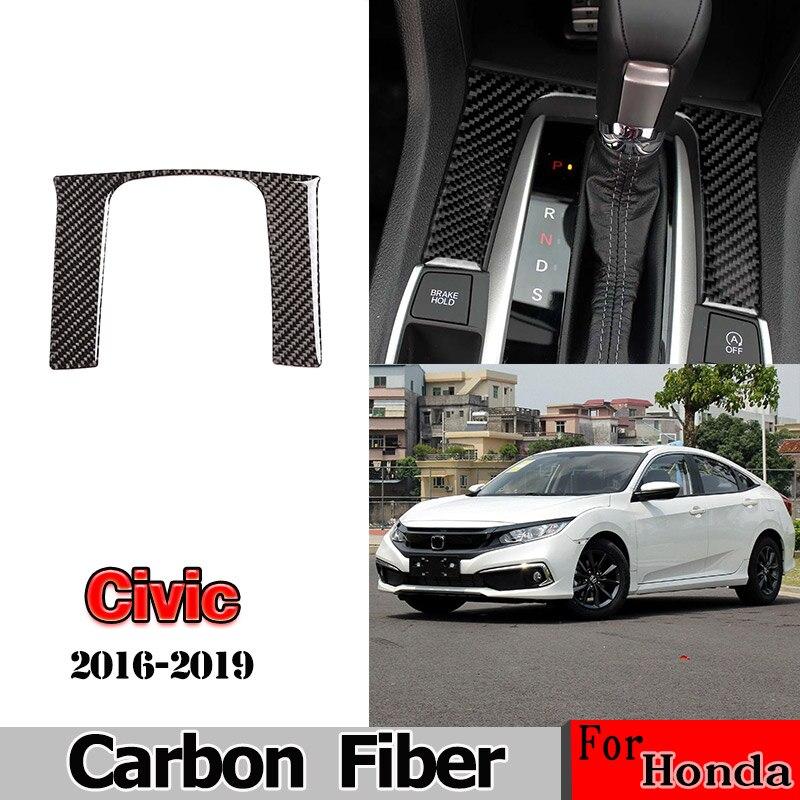 32x Carbon Fiber Gold Interior Gear Shift Full Stickers For Honda Civic 16-2019