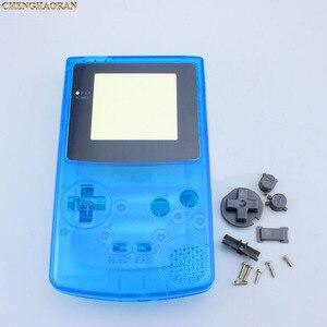 Image 3 - ChengHaoRan 1set Klar Blue Full Housing Shell fall abdeckung für GBC Gameboy Farbe mit Leitfähigen Gummi Schraubendreher