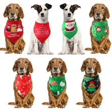 Dog Cat Bandana Pet Christmas Collar Scarf Bib Triangular Bandage Collars For Small Medium Large Dogs Cats Grooming Accessories