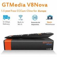 GT медиа V8 Nova DVB-S2 Freesat спутниковый ресивер декодер и 1,5 год Европа Испания ТВ сервер cccam H.265 HD