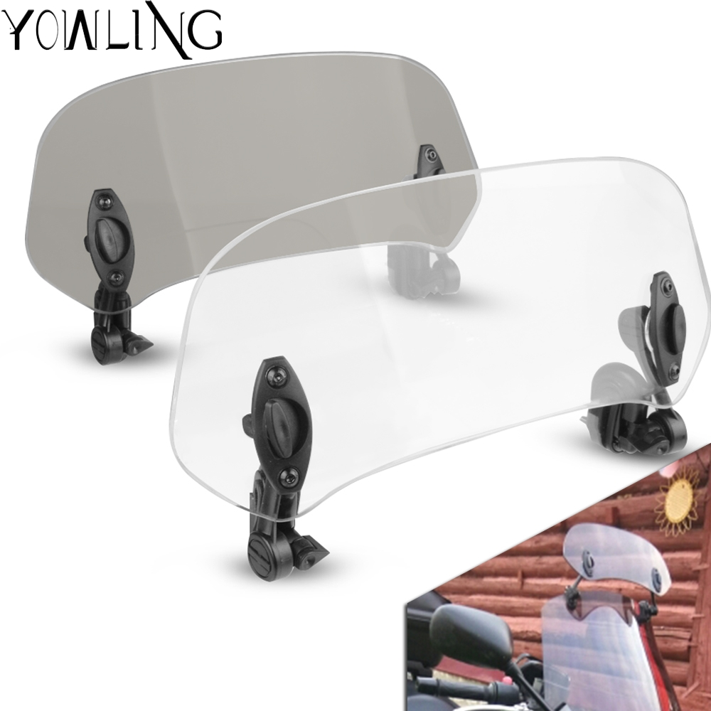 Motorcycle Risen Adjustable Wind Screen <font><b>Windshield</b></font> Spoiler Air Deflector for <font><b>Yamaha</b></font> <font><b>Nmax</b></font> 155 Nmax155 <font><b>nmax</b></font> 2016 2017 2018 2019 image