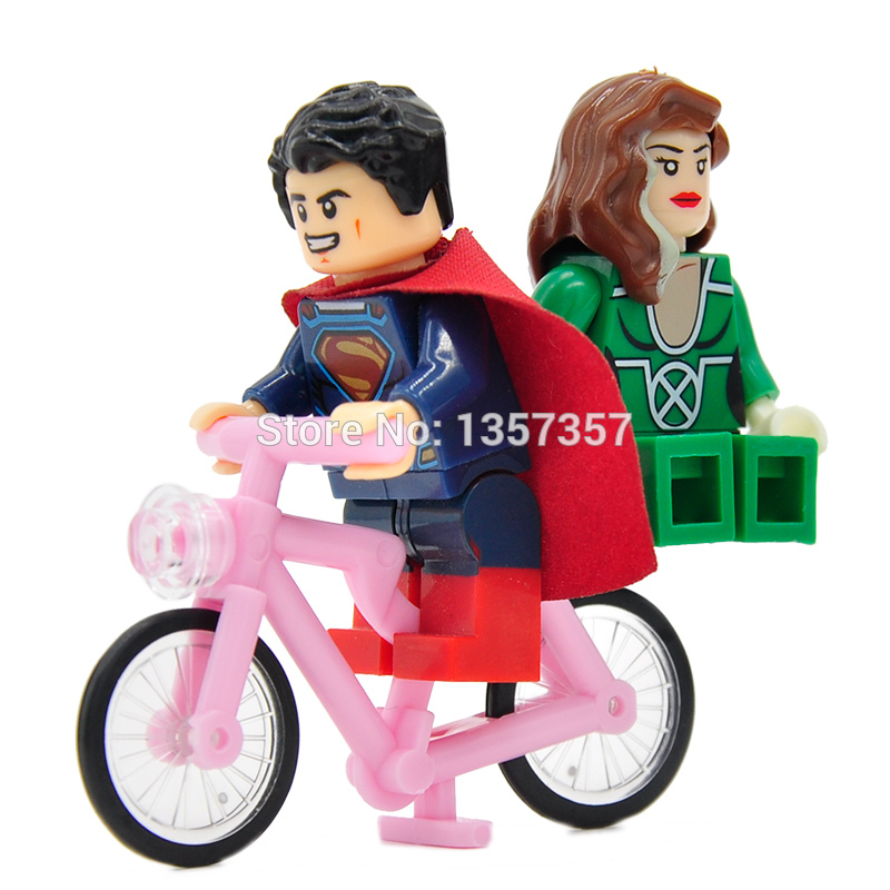 Single Sale Bike Medium BICYCLE Accessories Parts For Super Hero Building Block Model Toys Legoing