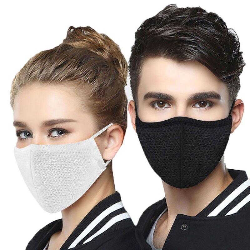 Weacn Fabric Face Mask Reusable Washable Anti Dust Masks Mondmasker Black Mouth Covers For Adult Kids Child Mascaras