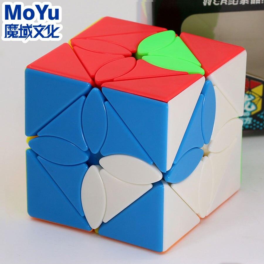 Sihirli küp bulmaca MoYu MeiLong eğik küp akçaağaç yaprağı FengYe profesyonel özel şekil küp eğitici büküm bilgelik oyun oyuncaklar