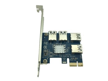 PCI Express 16X slots Riser Card PCI-E 1X to External 4 PCI-e slot Adapter PCIe 1 To 4 Port Multiplier for Ming