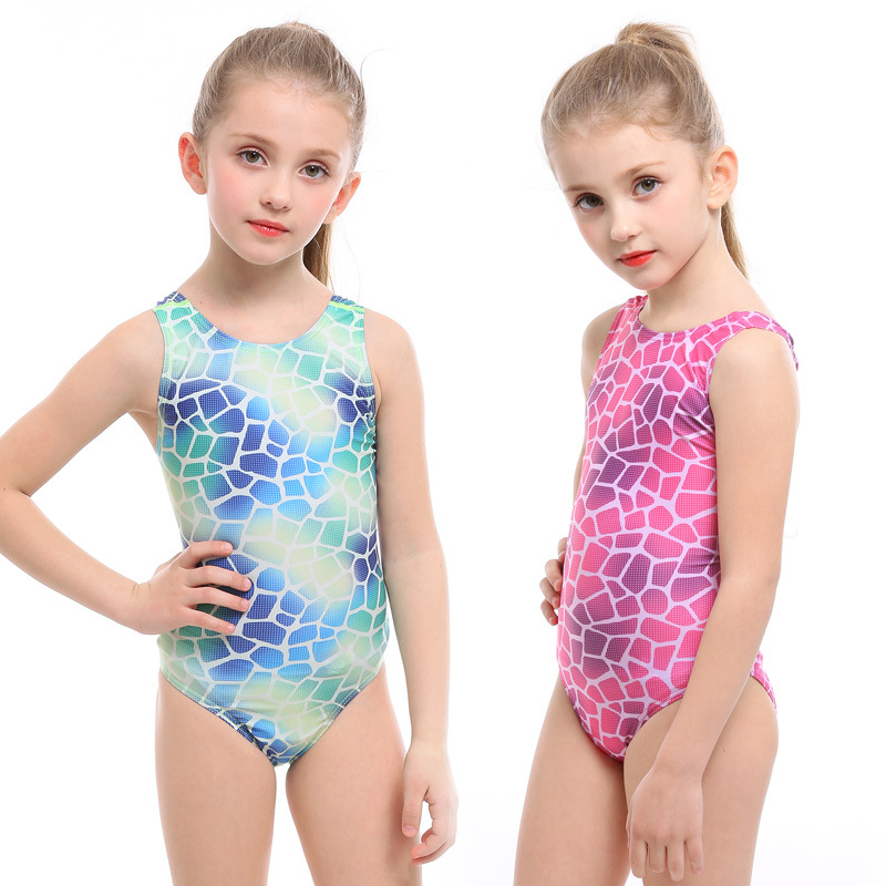 KID'S Swimwear GIRL'S Baby Cute One-piece Swimwear Big Boy Princess Girls Korean-style Trigonometry Swimming Training