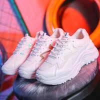 Neue Weiße Turnschuhe Frauen Schuhe Ulzzang Chunky Turnschuhe Plattform Vulkanisieren Schuhe Frau Tenis Feminino Atmungsaktive Mesh Papa Schuhe