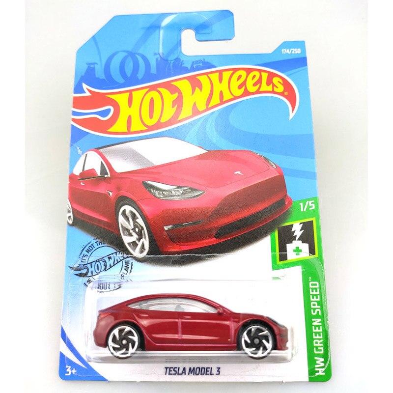 Hot Wheels 1:64, coche de 2019 NO.174-218, coche de Metal fundido a presión TESLA MAZDA, JEEP, FORD CHEVY, juguetes de regalo para niños
