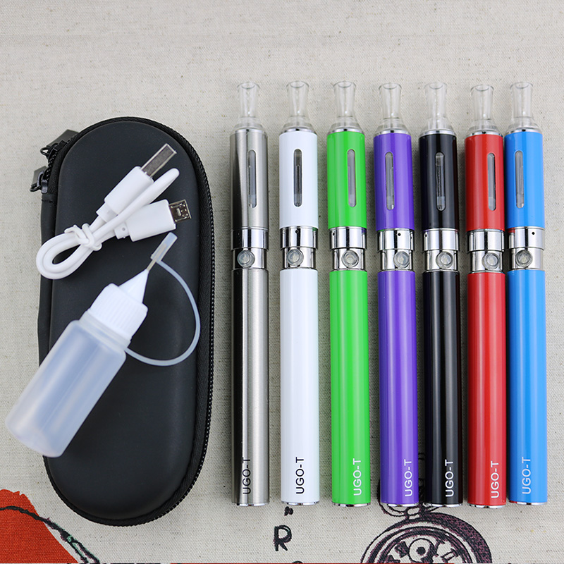 UGO-T MT3 E Cigarette Zipper Case Kits 1100 Mah Ugo T Battery MT3 Atomizer 2.4ml Starter Kit Vape Pen VS Ego Ce4 Kits