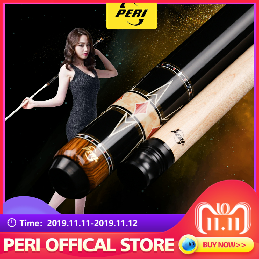 Offical PERI PCD-04 Billiards Carom Cue 12mm Tip Billiard Professional Handmade  3 Cushion Game with Gifts