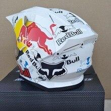 Мотоциклетный шлем белого цвета, полнолицевой шлем для бездорожья, профессиональный шлем для мотокросса
