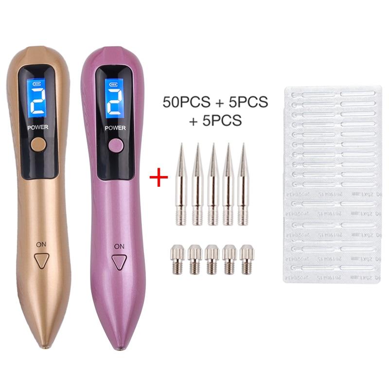 50PCS Plasma Pen Needles with LCD Plasma Pen For Laser Skin Dark Spot Remover Mole Tattoo Removal Skin Care Machine