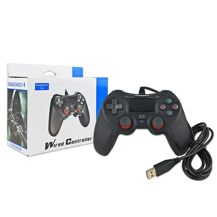 PS4 Game Controller Usb Wired Gamepad Meerdere Joystick Vibratie Handvat 2M Kabel Gamepad Voor Iphone Ipad Pc Voor PS4 PS3