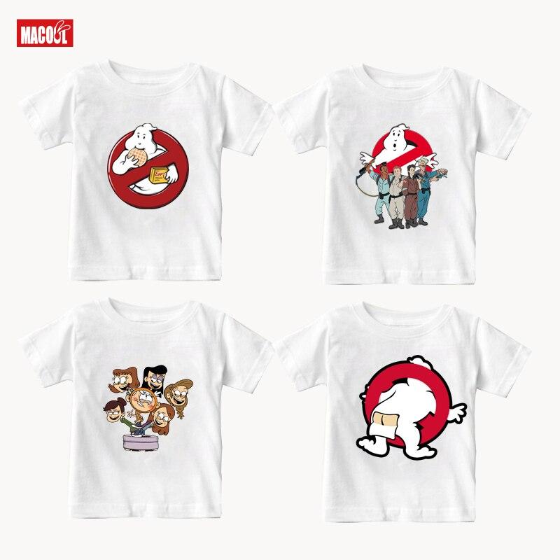 Boys funny Clothing Tops Kids T Shirts Short Sleeve 2020 Summer Girls T Shirt  white  Cotton T-Shirts for Boy 2 3 4 5 6 7 8 Year