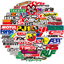 10/50/100PCS JDM Racing Car Modification Stickers Motorcycle Laptop Bike Cool Waterproof Graffiti Sticker Decal Kid Classic Toys