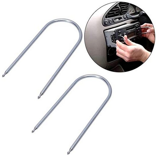 Audio Key Removal Tool Car DVD Host Key Disassembly Tool U-Shaped Stainless Steel CD Key Removal Tool 2 Pcs