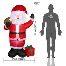 1.8M LED Air Inflatable Santa Snowman claus กับ Blower สวนรูปแบบกลางแจ้งตกแต่งคริสต์มาสรูปเด็กของเล่นคลาสสิก