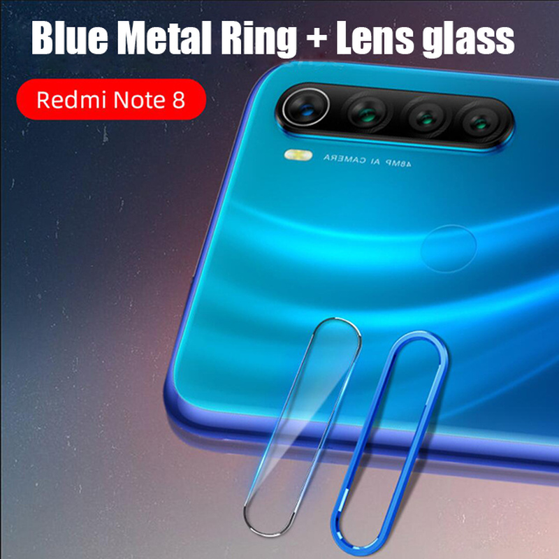 Full Cover Metal Ring Camera Lens And Tempered Glass For Redmi Note 8 Pro 8T 1