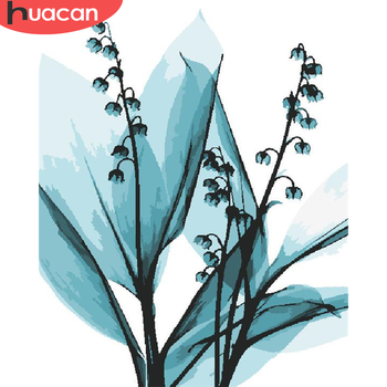 HUACAN Paint By Number Flower DIY Pictures By Numbers Kits Drawing On Canvas Hand Painted Painting Art Gift Home Decoration