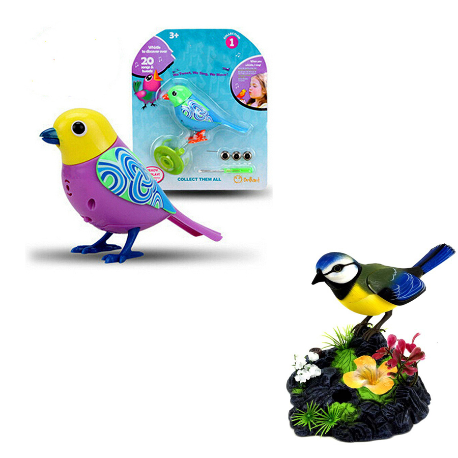 Electric Bird Talking Parrot Birds Intelligent Pets Sound Whistle Induction Concert Bird With Cage Kids Toys For Children