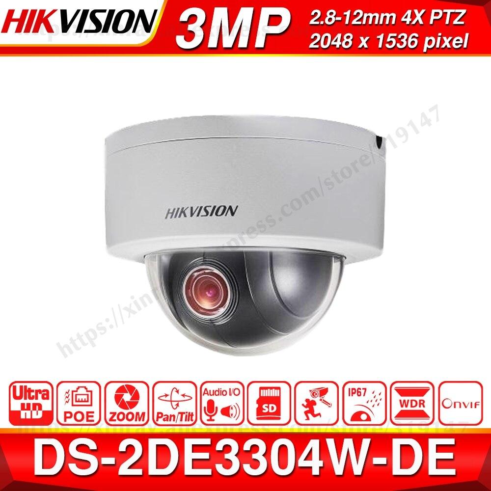 Hikvision caméra réseau IP 3MP PTZ DS-2DE3304W-DE IPC 4X Zoom optique Mini dôme prise en charge Ezviz vue à distance Audio entrée/sortie