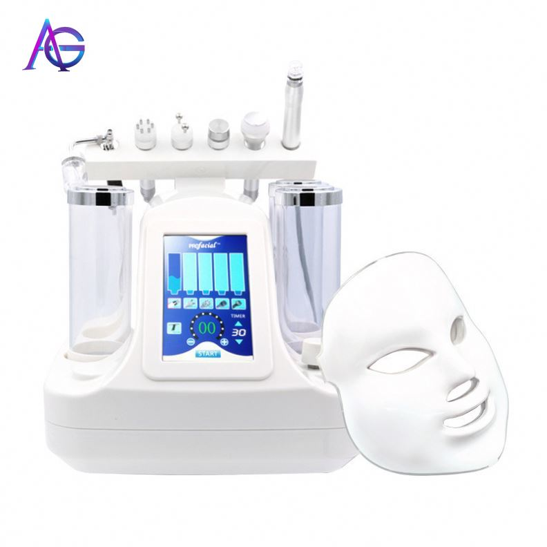 Adg 7 In One Professional Hydra Oxygen Facial Deep Cleaning Skin Care Machine