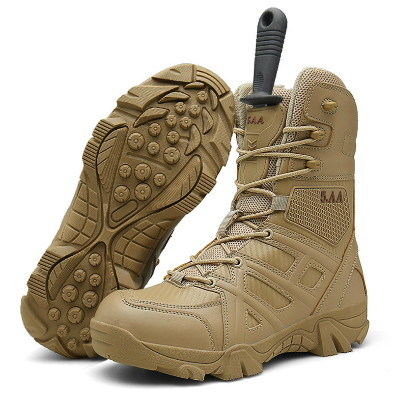 Outdoor Men Hiking Shoes Army Combat Boots Trekking Shoes Military Tactical  Boots Waterproof Mountain Climbing Sneakers|Men's Casual Shoes| - AliExpress